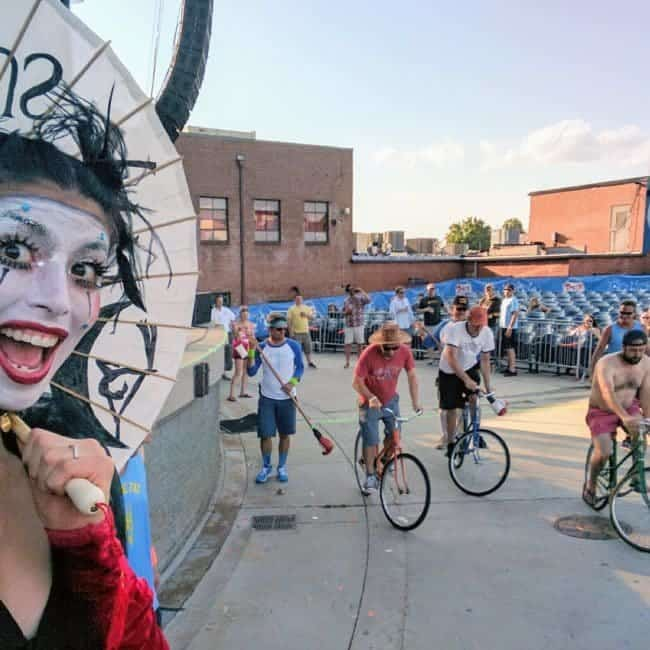 Stilt Walker at Tour de Fat in Charlotte, NC | Kaci | Imagine Circus