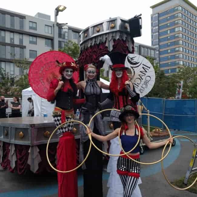 Stilt Walkers at New Belgium Brewery's Tour de Fat Music Festival | Imagine Circus Performers | Katie, Alexa, Little L, & Julia | Boston, MA