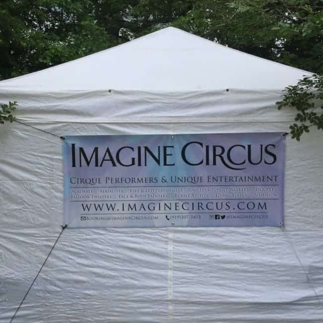 Imagine Circus tent at Shakori Hills Music Festival