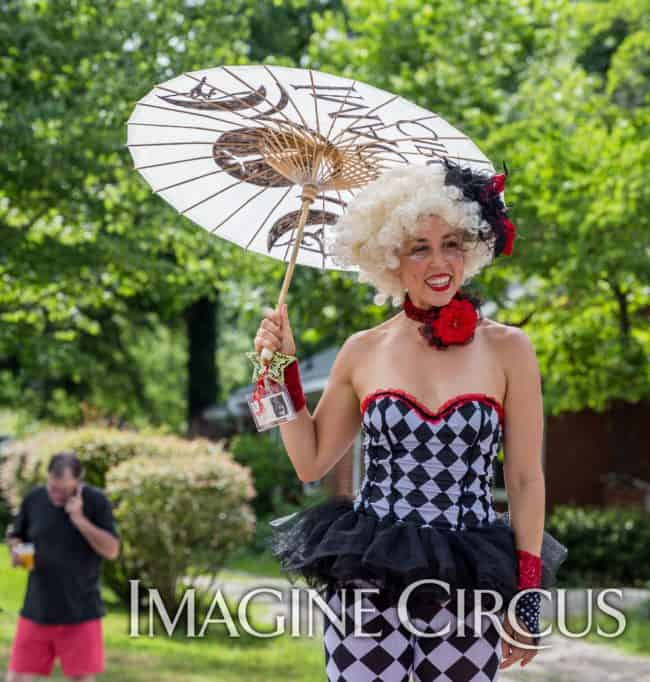 Stilt Walker, Performer, Liz, Cary, NC, Imagine Circus, Photo by Mark Thomas