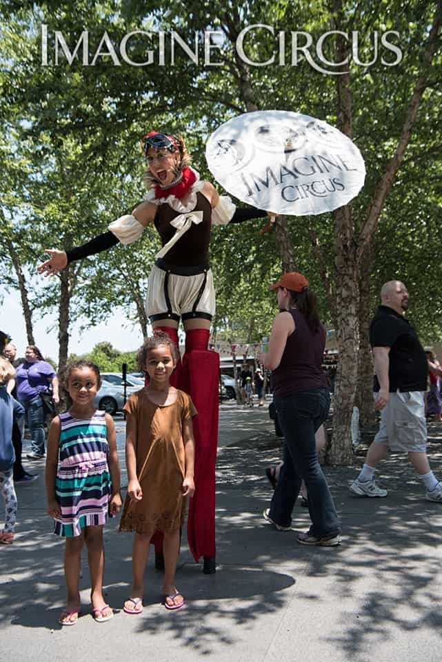Stilt Walker, Renaissance Festival, NCMA, Liz, Imagine Circus, Photo by K Malinofski