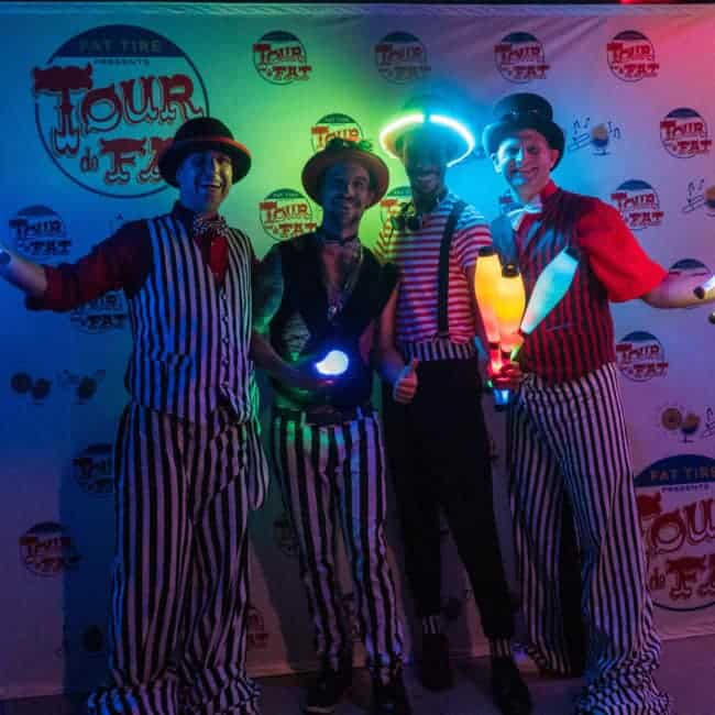 LED Jugglers at New Belgium Brewery's Tour de Fat Music Festival | Imagine Circus Performers | Mikhel, Brad, Ian, & Fred | St. Petersburg, FL