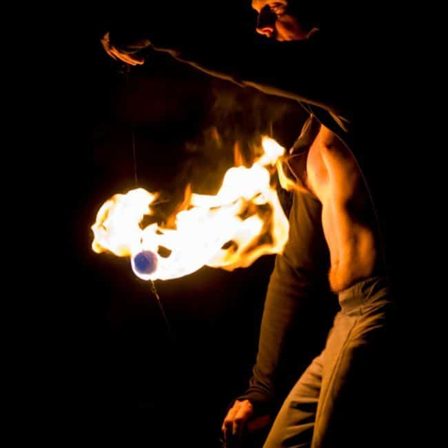 Greensboro Summer Solstice Fire Show   Photo by Polly Jones   Imagine Circus Performers