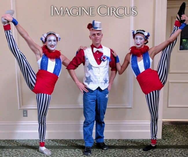 Acrobats, Fourth of July, Cirque Performers, Kaci, Adam, Katie, Imagine Circus