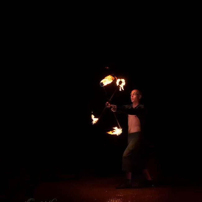 Greensboro Summer Solstice Fire Show   Adam   Photo by Polly Jones   Imagine Circus Performers
