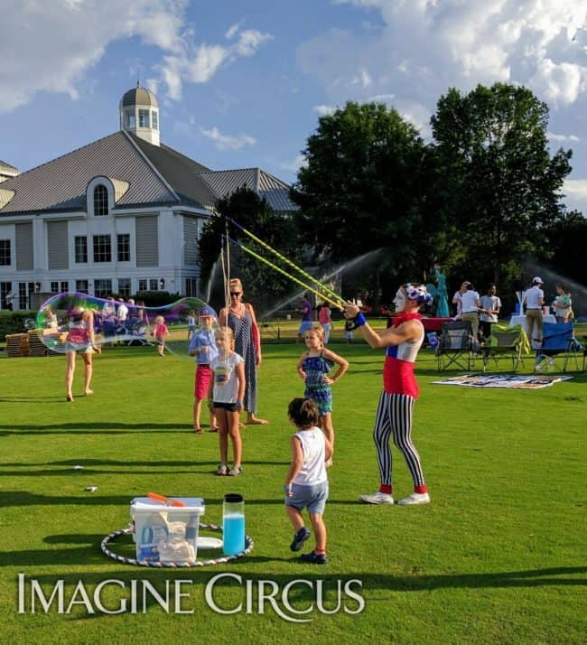 Fourth of July, Bubble Artist, Performer, Katie, Imagine Circus