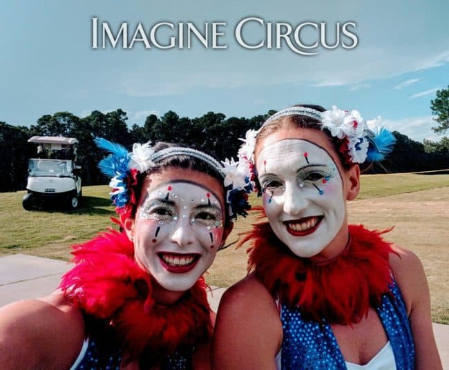 Fourth of July, Cirque Performers, Kaci, Katie, Imagine Circus