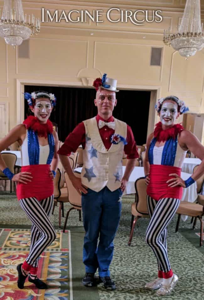 Fourth of July, Cirque Performer, Kaci, Adam, Katie, Imagine Circus