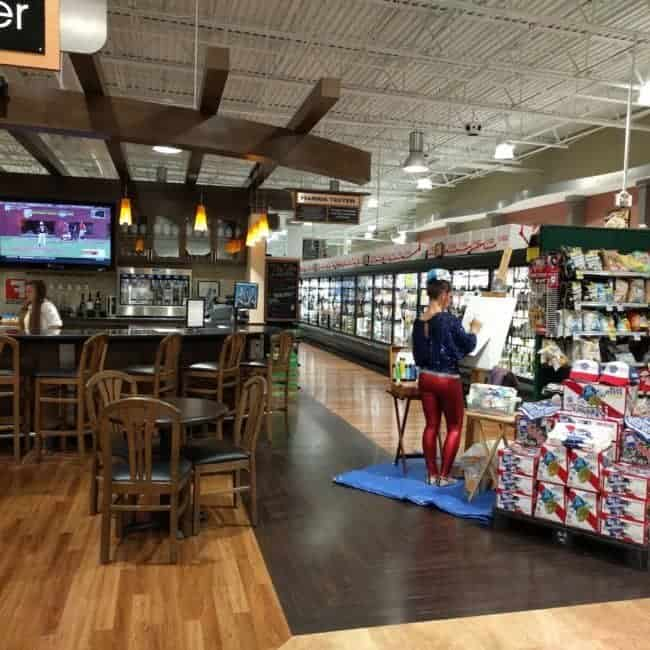 PBR Art Live Painting Events | Emily at Harris Teeter in Cary, NC | Imagine Circus