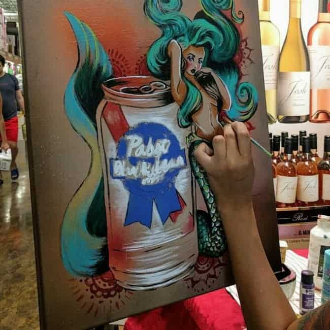 PBR Art Live Painting Events | Alexa at Total Wine in Raleigh, NC | Imagine Circus