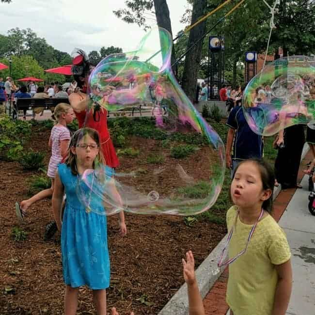 Giant Bubbles by Mindy | Downtown Cary Celebration | Imagine Circus