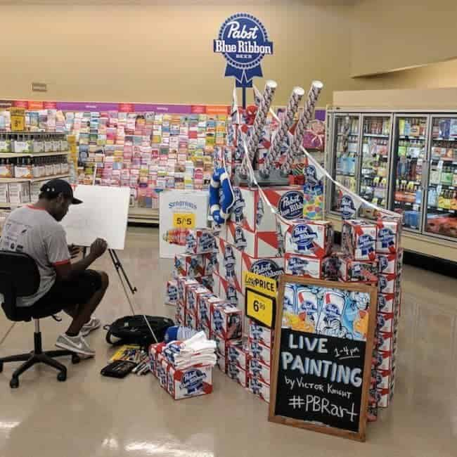 PBR Art Live Painting Events | Victor Knight at Food Lion in Apex, NC | Imagine Circus