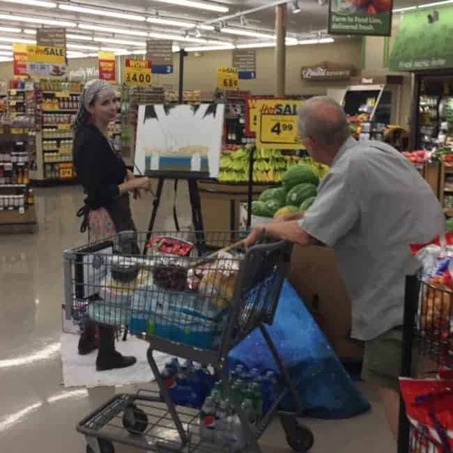 PBR Art Live Painting Events | Molly at Food Lion in Raleigh, NC | Imagine Circus