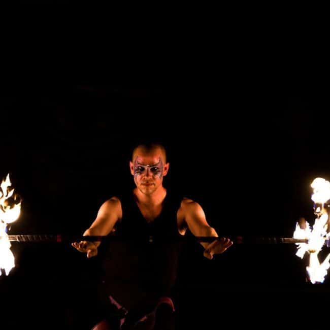 Fire Performer with Dragon Staff | Scott | Greensboro, NC | Imagine Circus