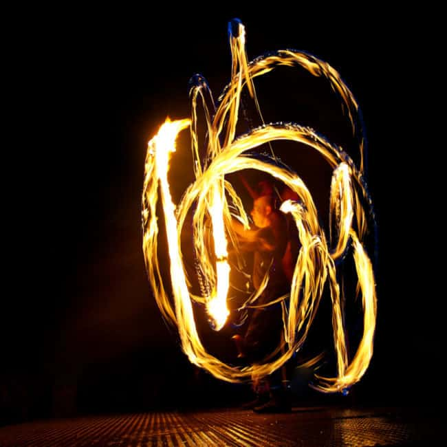 Greensboro Summer Solstice Fire Show | Photo by John Feimster | Imagine Circus Performers