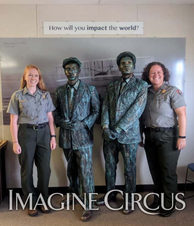 Ben & Gio, Wright Brothers, Living Statues, Imagine Circus, Aviation Day