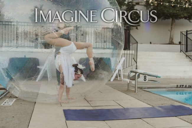 Brittany, Water Ball Performer, Acrobat, Imagine Circus, Meyers Park