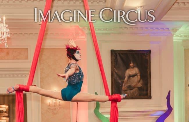 Brittany, Aerialist, Aerial Silks, Imagine Circus, Meyers Park, Photo by Marcos Aspiazu