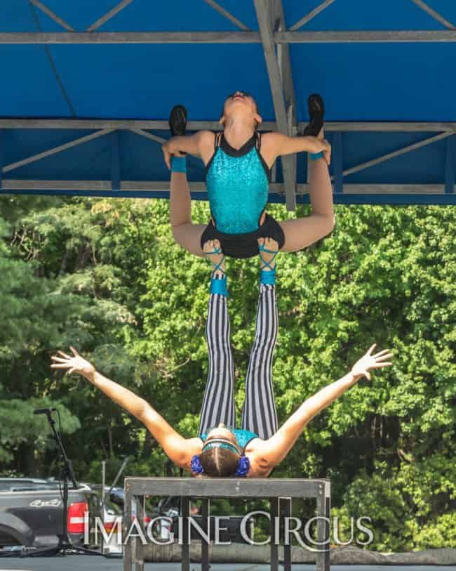 Katie & Kaci, Acro Duo, Imagine Circus, Photo by Brooke Meyer