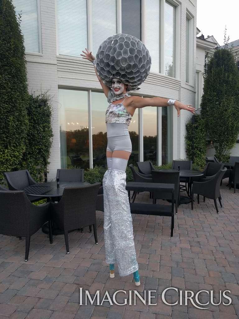Katie, Stilt Walker, Cirque Entertainment, Imagine Circus, Meyers Park