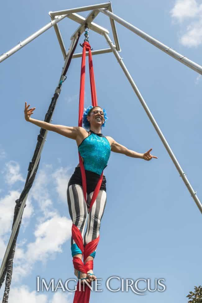 Liz, Aerial Silks, Imagine Circus, Photo by Brooke Meyer