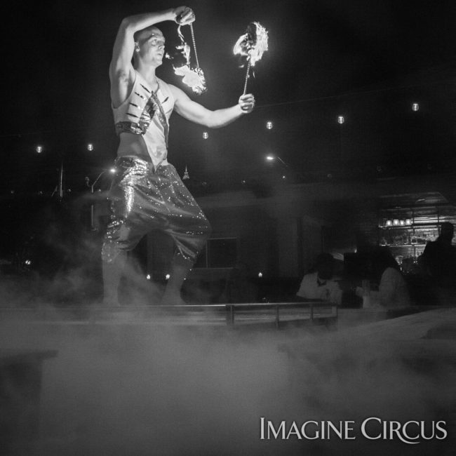 Adam, Fire Poi, Imagine Circus, Mulino, Photo by Slater Mapp