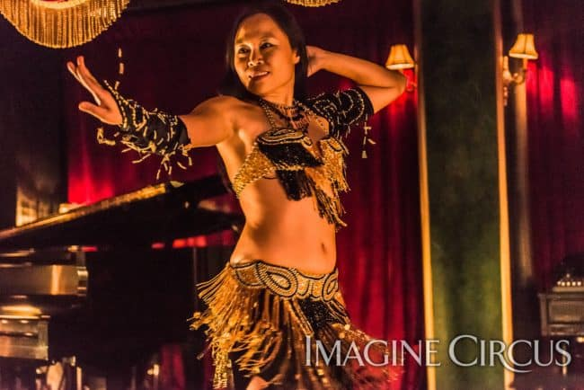 Asyia, Belly Dancer, C Grace, Imagine Circus, Photo by Slater Mapp