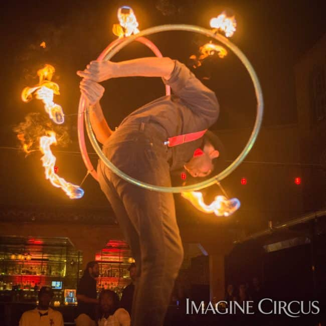Ben, Fire Hoop, Imagine Circus, Mulino, Photo by Slater Mapp