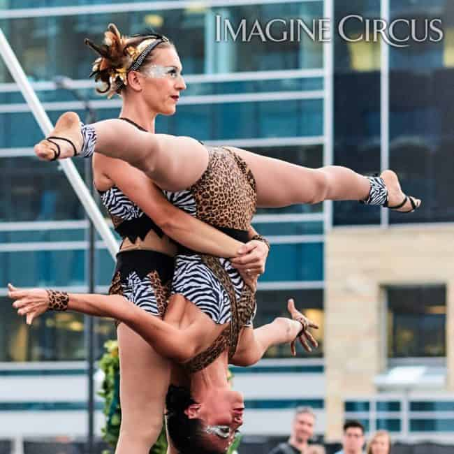 Elements Show, Earth, Katie & Kaci, Acro Duo, Imagine Circus, SPARKcon, Photo by Tom Barta
