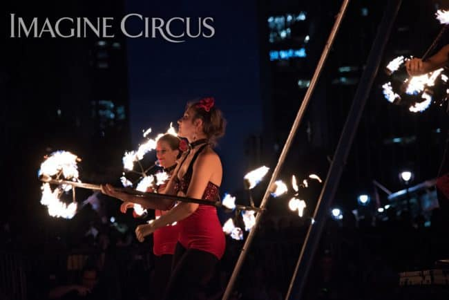 Elements Show, Fire, Alex, Natali, & Gio, Group Dragon Staff, SPARKcon, Imagine Circus, Photo by Light on a Hill Photography
