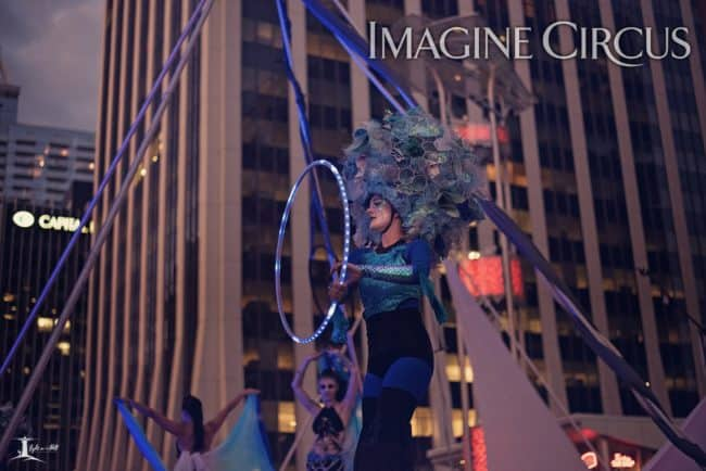 Elements Show, Water, Kaylan, LED Hoop, SPARKcon, Imagine Circus, Photo by Light on a Hill Photography