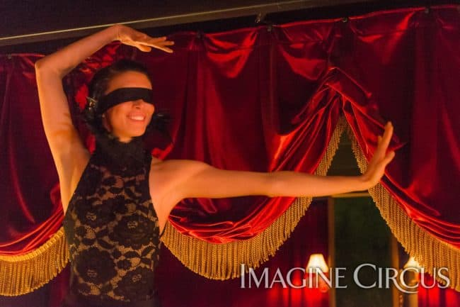 Katie, Sexy Acro Duo, Blindfolded Acrobats, C Grace, Imagine Circus, Photo by Slater Mapp
