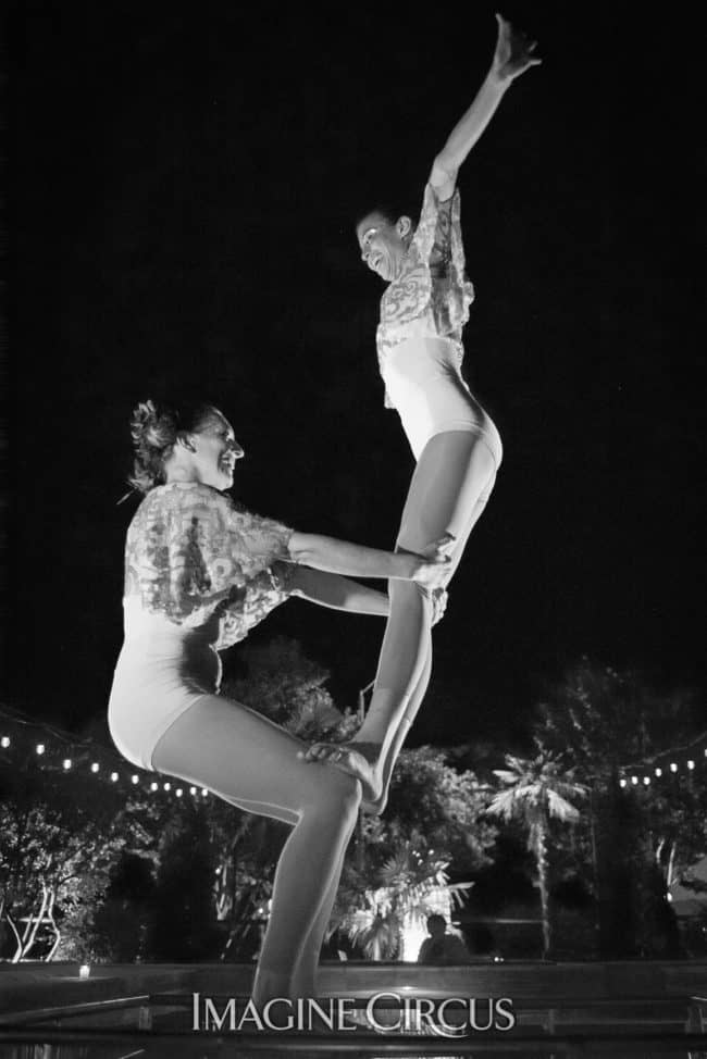 Kaci & Katie, Acro Duo, Imagine Circus, Mulino, Photo by Slater Mapp