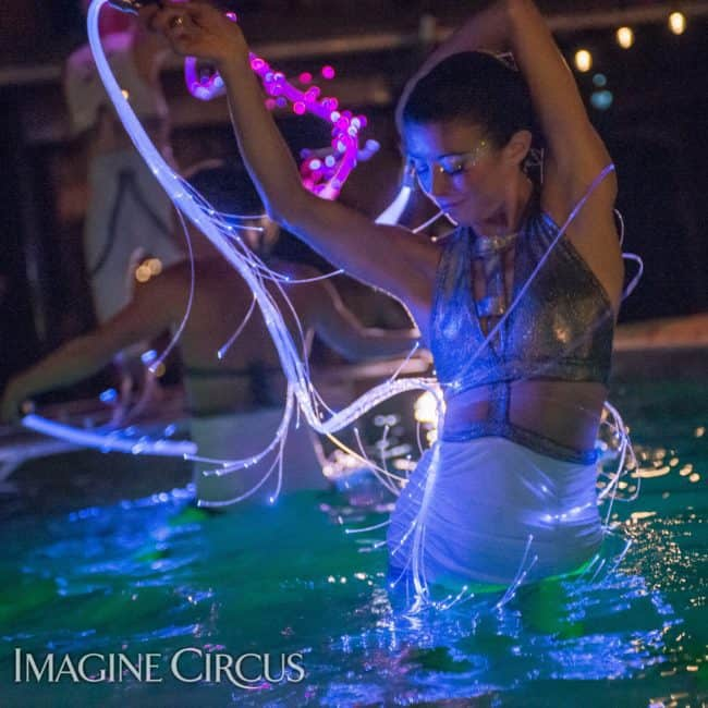 Kaci, LED Fiber Flies, Imagine Circus, Mulino, Photo by Slater Mapp