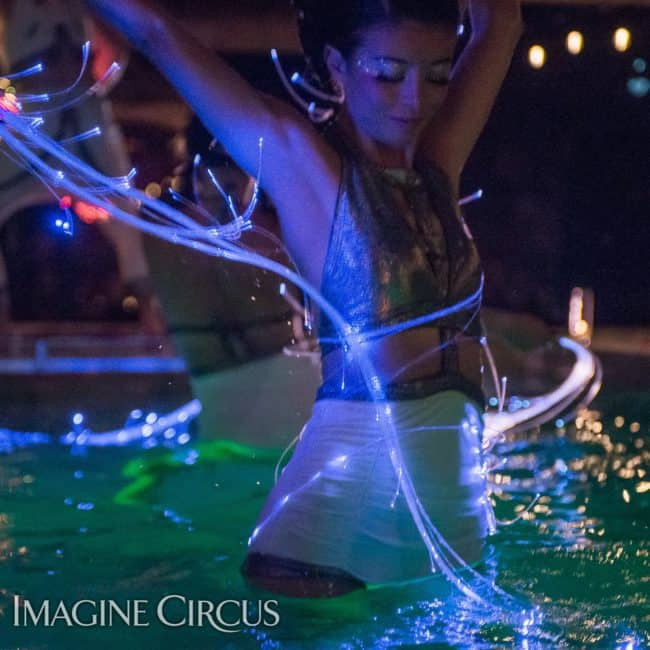 Kaci, LED Fiber Flies, Imagine Circus, Mulino, Photo by Slater Mapp