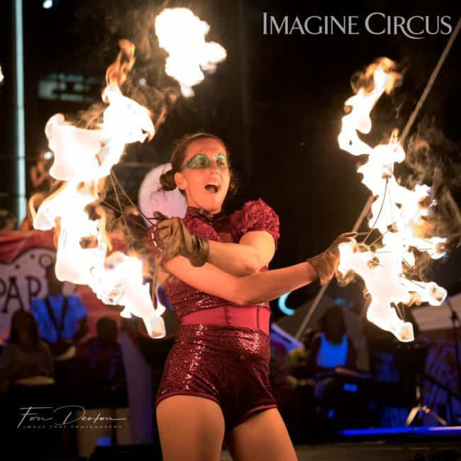 Katie, Fire Fans, SPARKcon, Imagine Circus, Photo by Fon Denton, Image That Photography