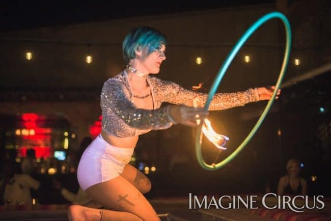 Kaylan, Fire Hoop, Imagine Circus, Mulino, Photo by Slater Mapp