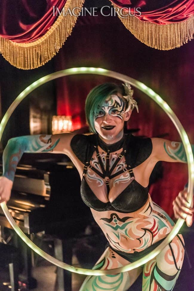 Kaylan, LED Hooper, Upscale Bodypaint, C Grace, Imagine Circus, Photo by Slater Mapp
