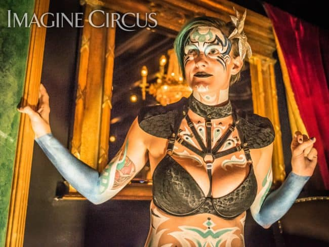 Kaylan, Upscale Bodypaint, C Grace, Imagine Circus, Photo by Slater Mapp