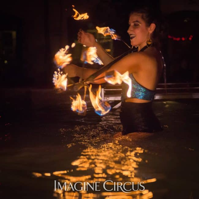 Natali, Fire Dragon Staff, Imagine Circus, Mulino, Photo by Slater Mapp
