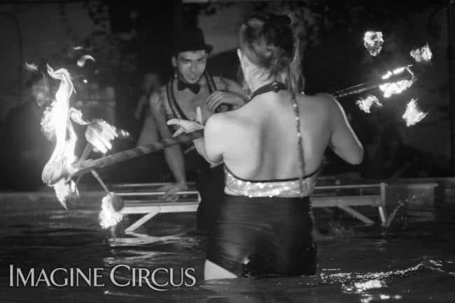 Natali & Gio, Partner Fire Dragon Staff Duo, Imagine Circus, Mulino, Photo by Slater Mapp