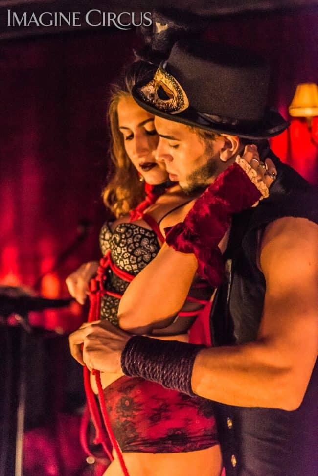 Natali & Gio, Sexy Shabari, Live Bondage, C Grace, Imagine Circus, Photo by Slater Mapp