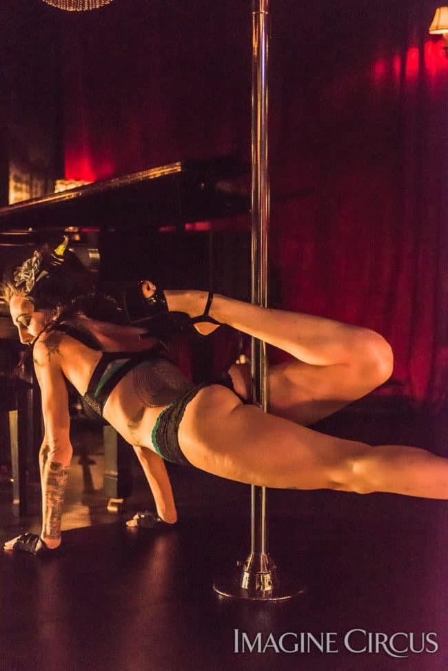 Tik-tok, Sexy Pole Dance, Strip Tease, C Grace, Imagine Circus, Photo by Slater Mapp