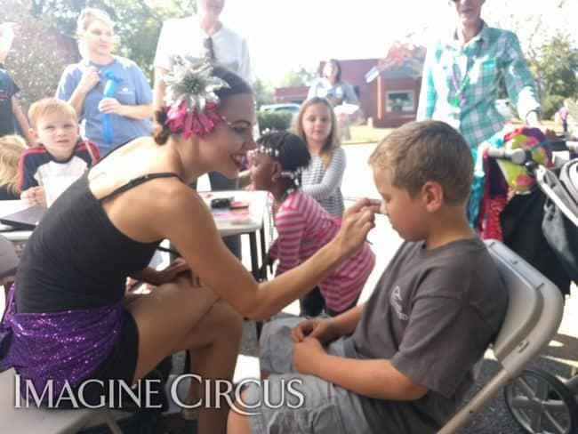 Face Painter, Mardi Gras Performer, Brittney, Imagine Circus