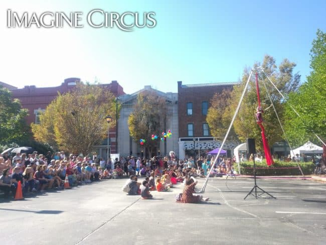 Liz Bliss, Aerial Silks, Mum Fest, Imagine Circus