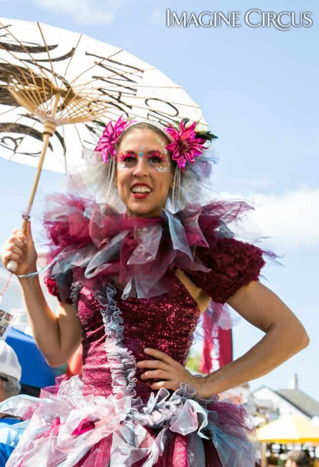 Liz Bliss, Stilt Walker, Mum Fest, Imagine Circus, Photographer Jeanne Julian
