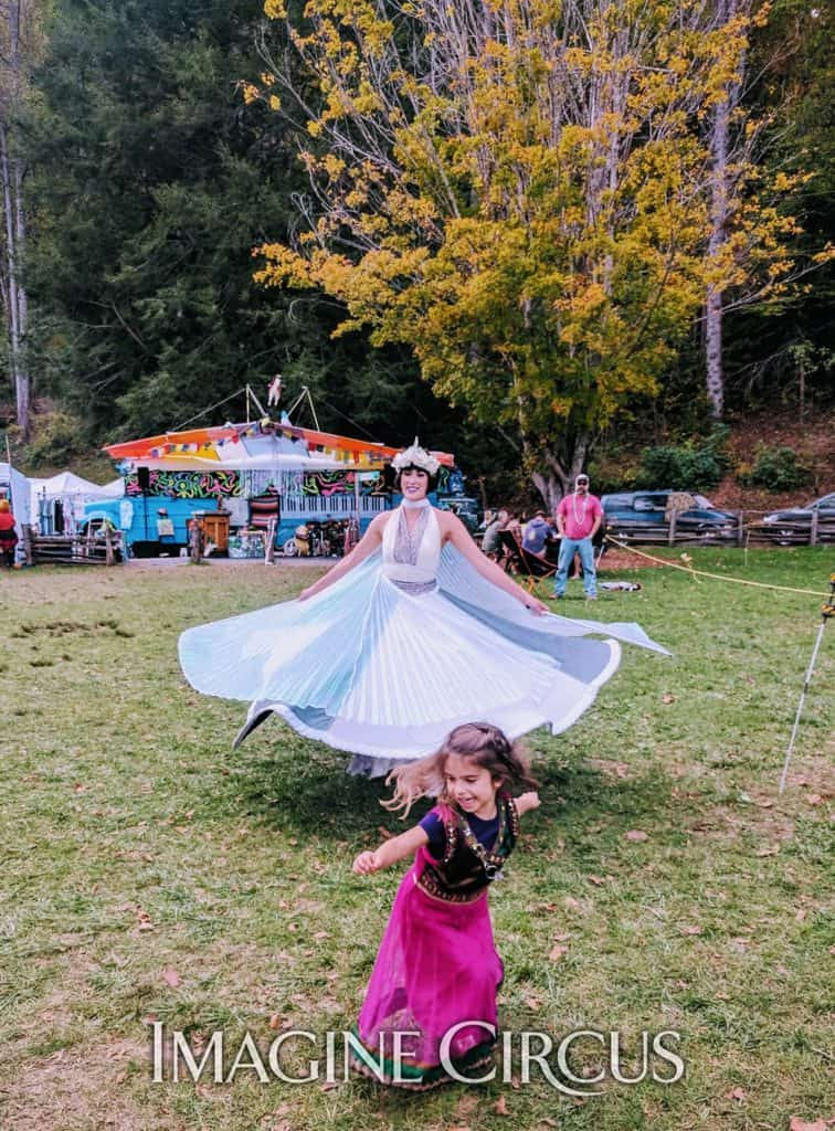 Winged Fairy, Dancer, Spinning Skirt, Performer, Mindy, Imagine Circus, LEAF Festival, Black Mountain, NC
