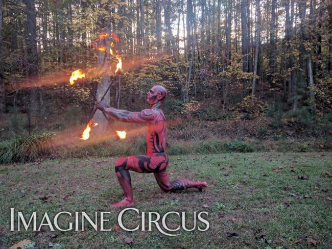 Fire Dancer, Fire Performer, Body paint Model, Brady, Imagine Circus