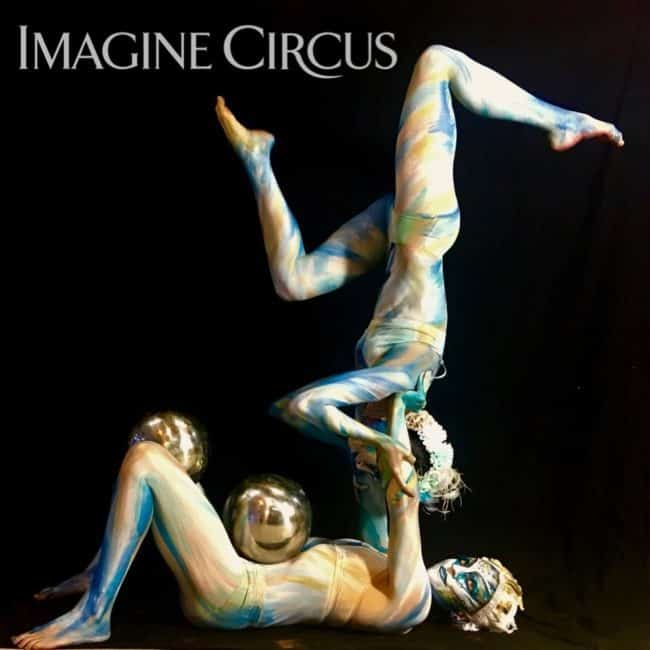 Acrobats, Body paint Models, Partner Acrobatics, Performers, Katie & Kaci, Imagine Circus