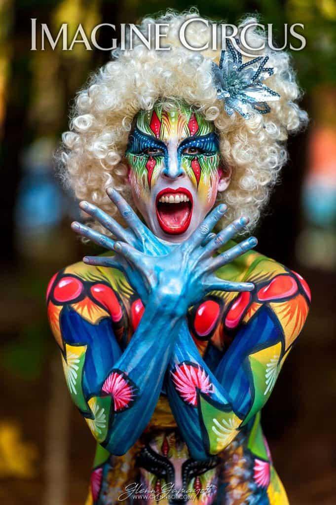 Body Paint Model, Performer, Liz, Imagine Circus, Photo by Glenn Tumanda Gamayot